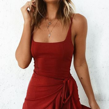Hampton Dress Red