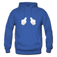 Dope Mickey Middle Finger  Hoodie