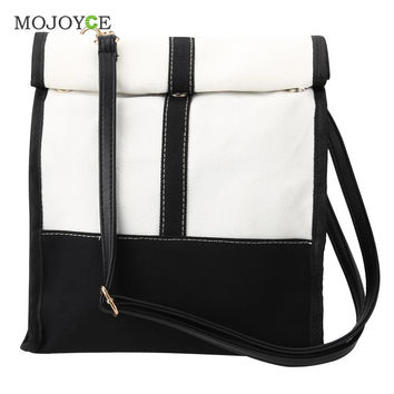 New Korean Style Patchwork Women Bag Canvas Tassel Crossbody Women Messenger Bag Satchel Shoulder Tote Clutch Bolsas Femininas SN9