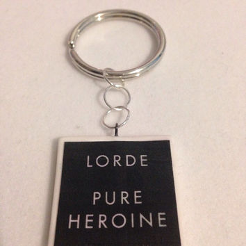 Lorde 'Pure Heroine' Inspired Keychain
