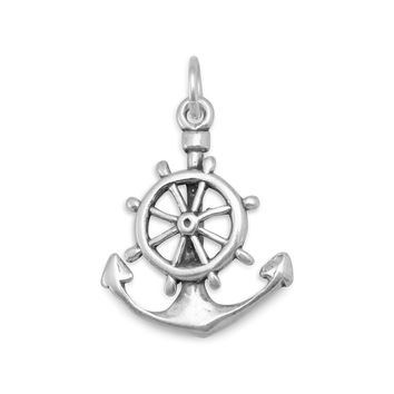 Oxidized Mariners Cross Charm