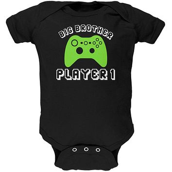 Big Brother Player 1 New Gamer Soft Baby One Piece