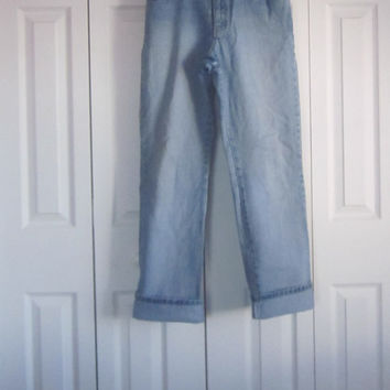 Boot Cut Boyfriend Jeans, High Waisted Denim Jeans, High Waist 30, Vintage Mom Jeans, Hipster Blue Jeans, Womens 8,  90s Grunge, NY Jeans