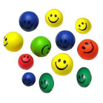 2016 Hot Sale 12pcs Dog Toys Mini Neon Smile Face Relaxable Balls Pet Products Dog Supplies cachorro