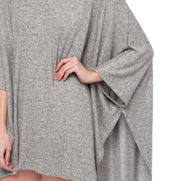 Over sized Top | Grey Boxy Shirts | Spring Essentials -AKIRA