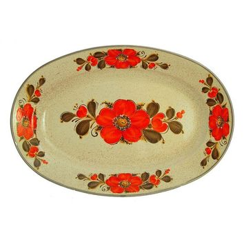 Pre-owned Sanko Ware Japanese Enamel Tray