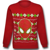 "Spiderman Face ""Christmas Sweater"" Sweatshirt"