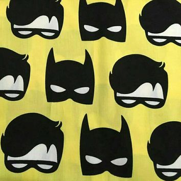Batman Dark Knight gift Christmas Wide 140cm Cartoon Batman Hero Mask Print Cotton Fabric Satin Fabric Quilting Cloth Patchwork Sewing Material Diy Baby Clothing AT_71_6