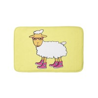 Ginny the sheep bathroom mat
