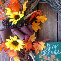 Fall Wreath, Grapevine Fall Wreath, Front Door Wreath