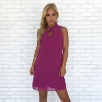 Eyes On You Shift Dress in Fuchsia