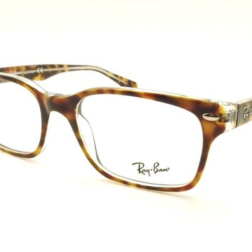 Ray Ban RB 5286 5082 51 Havana Crystal Eyeglass New Authentic Frames