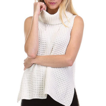 High Profile Ivory Cowl neck Sweater