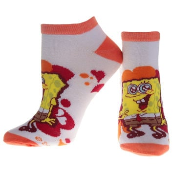 Spongebob Squarepants - Hearts Orange Socks