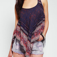 Urban Outfitters - Ecote Fringe Scarf Hem Tank Top