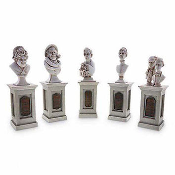 disney parks 45th anniversary haunted mansion figure set of 5 bust new with box
