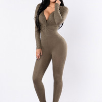 Perfect Way Jumpsuit - Olive