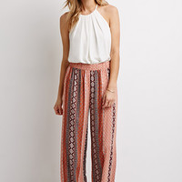 Striped Paisley Gauze Pants