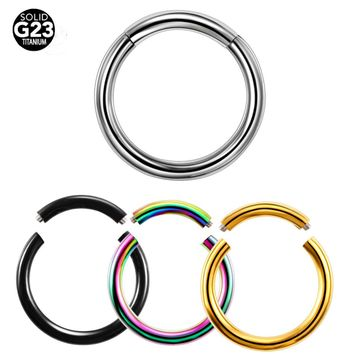 10pcs/lot 4Colors G23 Titanium Segment Captive Ring Nose Labret Lip Ring Body Piercing Jewelry Pircing
