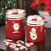 SNOWMAN SMALL CANDY JAR