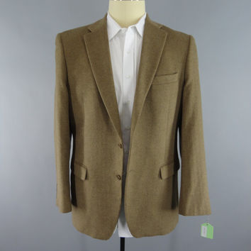 Vintage Cashmere Blazer Jacket / Claiborne Sport Coat / Wool Jacket / Men's Coat / Long Tall