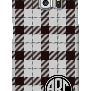 Plaid Monogram Galaxy S6 Edge Slim Case