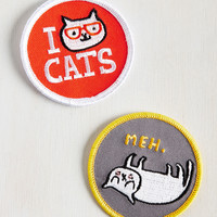 Mixed Felines Patch Set | Mod Retro Vintage Pins | ModCloth.com