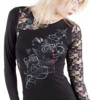 Spiral | Fatal Attraction Lace Top - Tragic Beautiful buy online from Australia