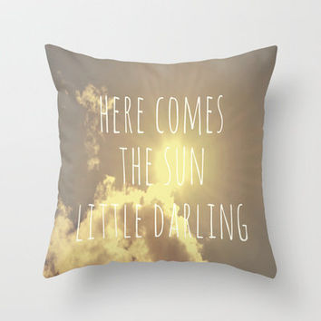 Little Darling  Throw Pillow by Rachel Burbee | Society6