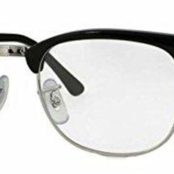 DCCK6N8 Ray-Ban RX5154 Clubmaster Eyeglasses 100% Authentic (51 mm, Shiny Black Frame)