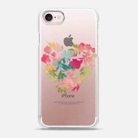 Casetify iPhone 7 Snap Case - Heart of Flowers by Allison Reich
