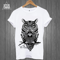 Mens swag hipster owl tattoo T-SHIRT new FRESH Breaking Bad OFWGKTA dope cool trill supreme