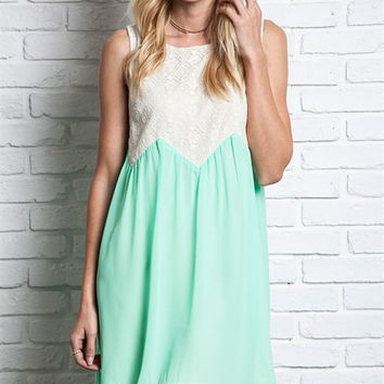 Mint Condition Chiffon and Lace Sundress