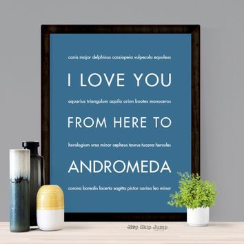 I Love You From Here To ANDROMEDA art print
