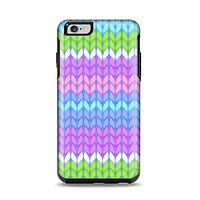 The Bright-Colored Knit Pattern Apple iPhone 6 Plus Otterbox Symmetry Case Skin Set