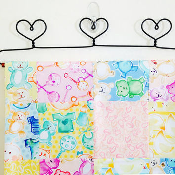 Unisex baby blanket stroller quilt car seat coverlet or play mat baby girl baby boy rattles chicks bears with soft micro fleece backing