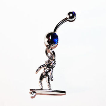 Surfer Belly Button Ring, Navel Ring, Surf, Beach, Ocean, Surfing, Belly Piercing