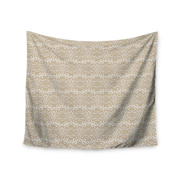 "Julia Grifol ""Soft Deco"" Brown Tan Wall Tapestry"