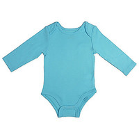 Mayfair Infants Wear Unisex Long-Sleeve Bodysuit in Aqua