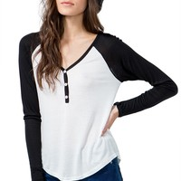 Button Up Raglan Tee