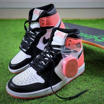 ONETOW Air Jordan 1 Pinnacle AJ White Pink Black Basketball Shoes