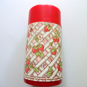 Vintage Strawberry Shortcake Thermos 1981