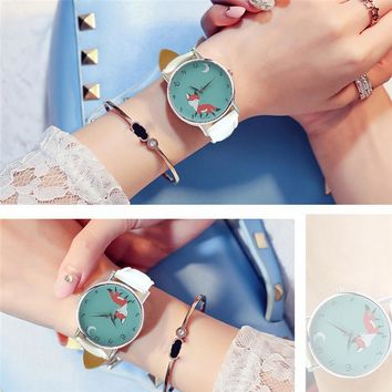 Goodnight Fox Quartz Wrist Watch