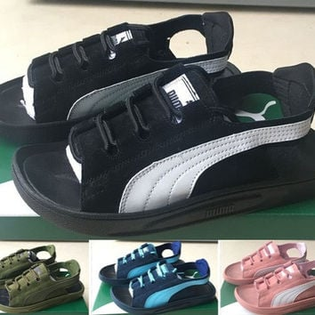 PUMA:Strap sandals couple models for men and women