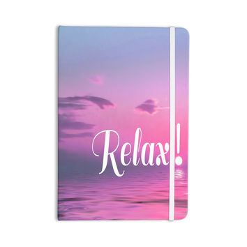 "Alison Coxon ""Relax"" Pink Typography Everything Notebook"