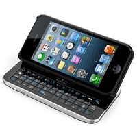 iPhone 5 Bluetooth Qwerty Keyboard Case (The Original + Stand + Removable Ultra Thin Case)