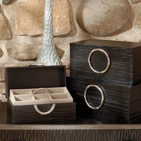Global Views Artisan Jewelry Box-Black/Nickel-Med - Global Views 9-91018