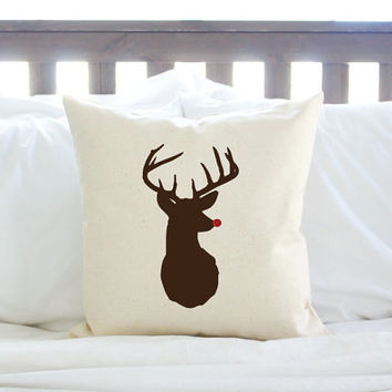 Christmas Decor Rudolph the Red Nosed Reindeer Pillow