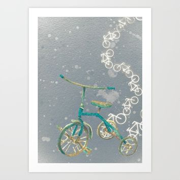 Trike Race Art Print by Buffy Kaufman Art