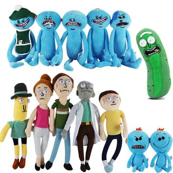 FREE SHIPPING TO USA - 13 Style New Animation Rick and Morty Plush toys Rick  Morty Rick Q Mr. Meeseeks Plush Doll toys for Home or Desk Decoration